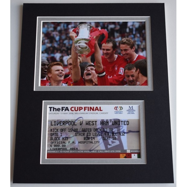 c2115008a Dietmar Hamann Signed Autograph 10x8 photo display Liverpool 2006 FA Cup  AFTAL COA Memorabilia PERFECT GIFT