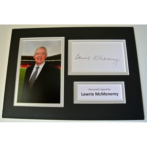 Lawrie McMenemy SIGNED autograph A4 Photo Mount Display Southampton football COA clearance sale