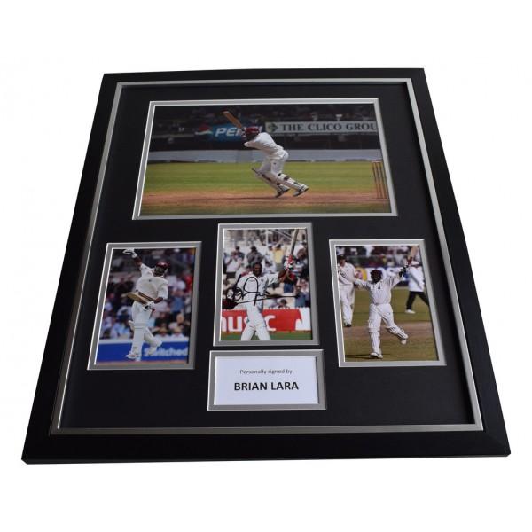 Brian Lara SIGNED Framed Photo Autograph Huge display Cricket   AFTAL & COA Memorabilia PERFECT GIFT