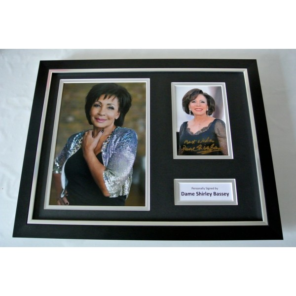 Shirley Bassey SIGNED FRAMED Photo Autograph 16x12 display James Bond Music COA    PERFECT GIFT
