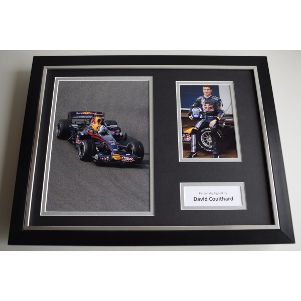 David Coulthard SIGNED FRAMED Photo Autograph 16x12 display Formula One F1  AFTAL & COA Memorabilia PERFECT GIFT