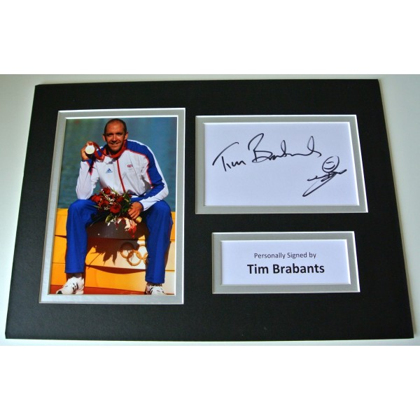 Tim Brabants SIGNED autograph A4 Photo Mount Display Olympic Rowing COA  CLEARANCE SALE