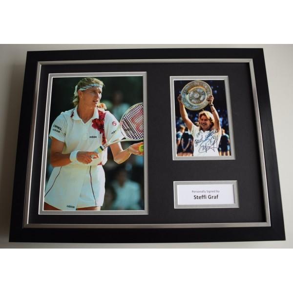 Steffi Graf SIGNED FRAMED Photo Autograph 16x12 display Tennis  AFTAL & COA Memorabilia PERFECT GIFT