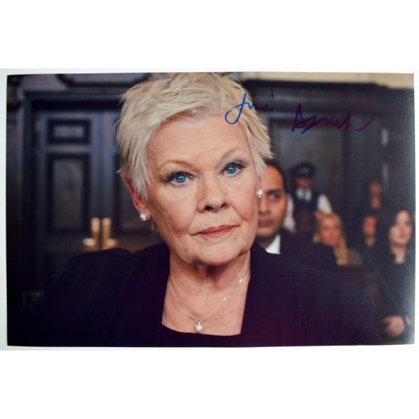 Dame Judi Dench SIGNED 12x8 Photo Autograph James Bond Skyfall Film AFTAL  COA Memorabilia PERFECT GIFT