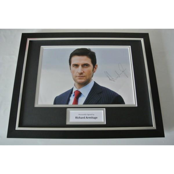 Richard Armitage SIGNED FRAMED Photo Autograph 16x12 display Spooks TV Film COA  PERFECT GIFT