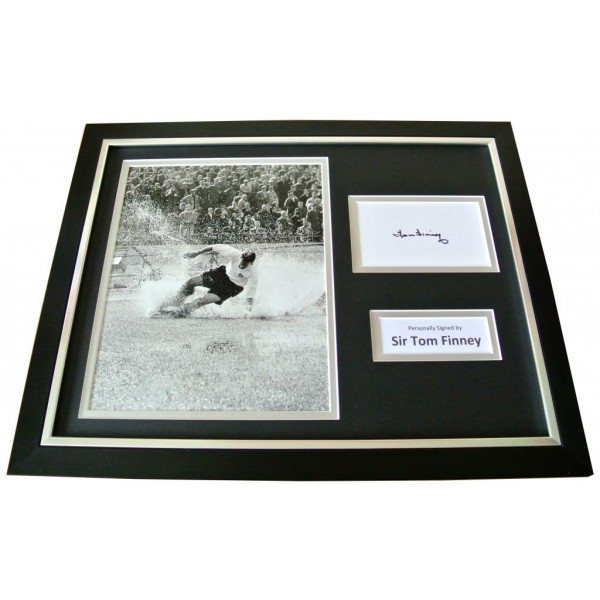SIR TOM FINNEY Signed Framed Photo Display AUTOGRAPH Preston PNE Memorabilia COA          PERFECT GIFT