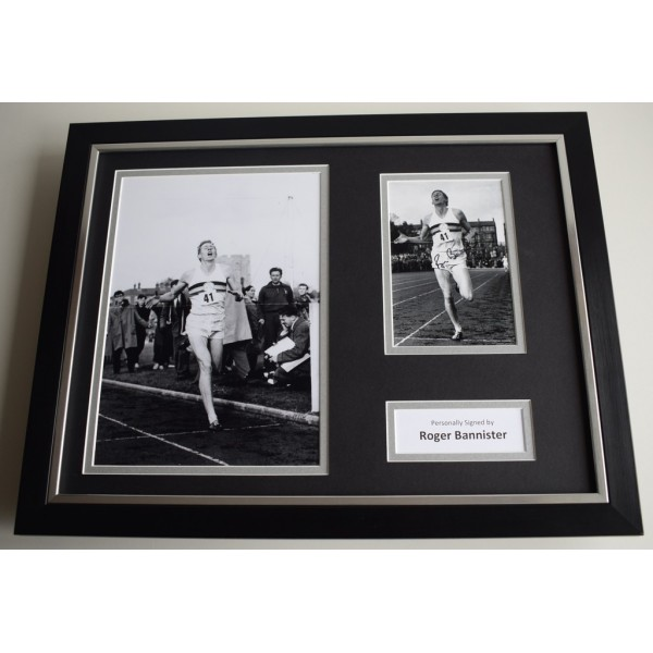 Roger Bannister SIGNED FRAMED Photo Autograph 16x12 display 4 Minute Mile   AFTAL & COA Memorabilia PERFECT GIFT