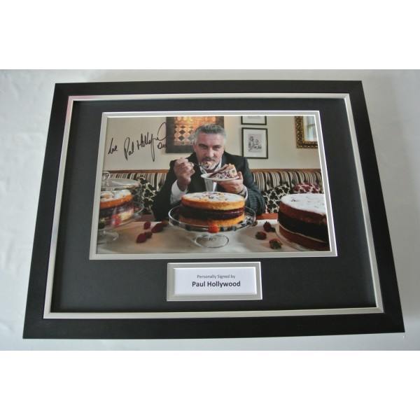 Paul Hollywood SIGNED FRAMED Photo Autograph 16x12 display Bake Off TV & COA         PERFECT GIFT