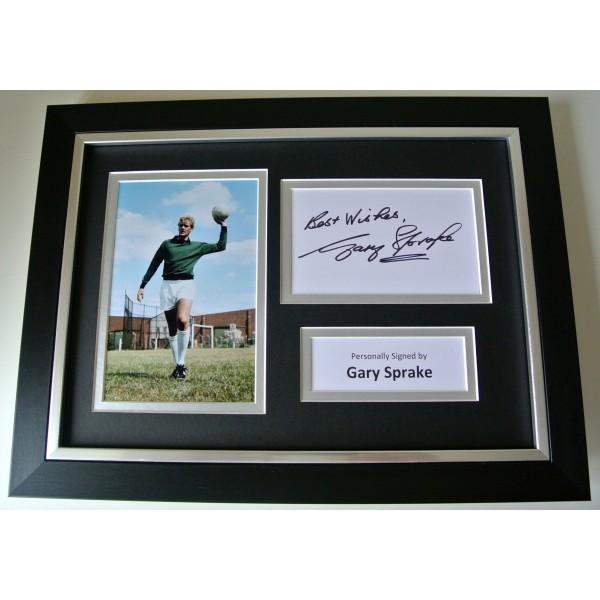Gary Sprake SIGNED A4 FRAMED Photo Autograph Display Leeds Utd Football & COA