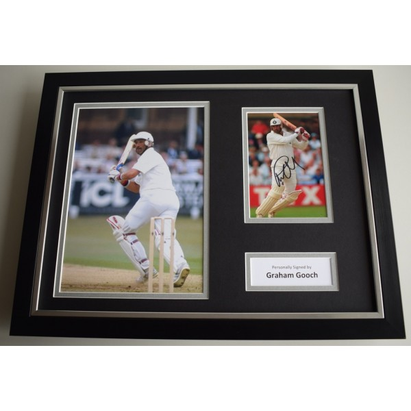 Graham Gooch SIGNED FRAMED Photo Autograph 16x12 display England Cricket AFTAL & COA Memorabilia PERFECT GIFT