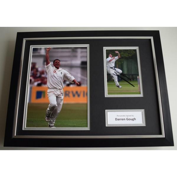 Darren Gough SIGNED FRAMED Photo Autograph 16x12 display England Cricket  AFTAL & COA Memorabilia PERFECT GIFT