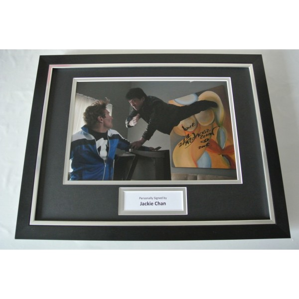Jackie Chan SIGNED FRAMED Photo Autograph 16x12 display Martial Arts Film & COA                PERFECT GIFT