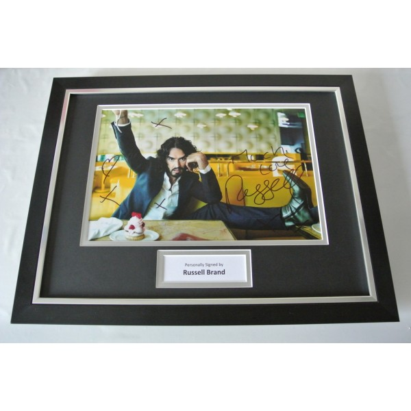 Russell Brand SIGNED FRAMED Photo Autograph 16x12 display Comedian TV Film & COA    PERFECT GIFT