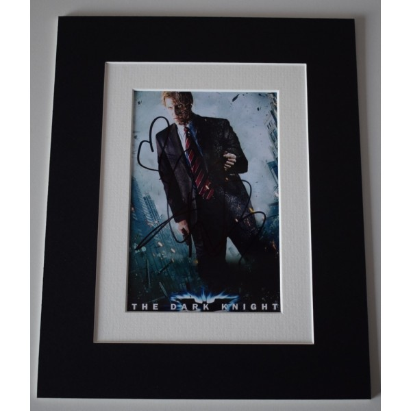 Aaron Eckhart Signed Autograph 10x8 photo display The Dark Knight Film   AFTAL  COA Memorabilia PERFECT GIFT