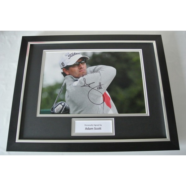 Adam Scott SIGNED FRAMED Photo Autograph 16x12 display Golf Memorabilia & COA   PERFECT GIFT
