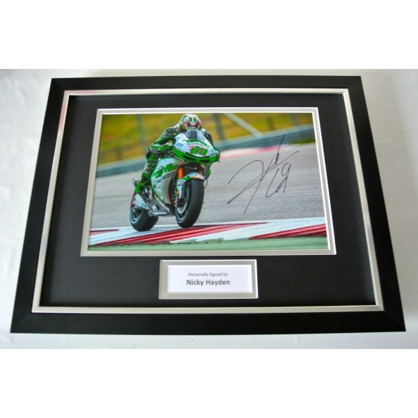 Nicky Hayden SIGNED FRAMED Photo Autograph 16x12 display Superbikes Racing & COA     PERFECT GIFT