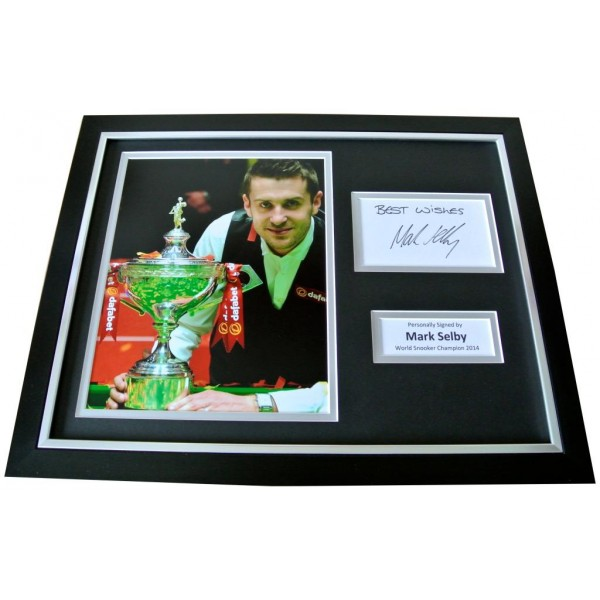 MARK SELBY Signed Framed Photo Display AUTOGRAPH Memorabilia Snooker 2014 & COA       PERFECT GIFT