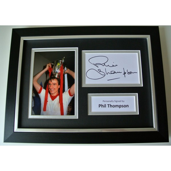 Phil Thompson SIGNED A4 FRAMED Photo Autograph Display Liverpool Football & COA
