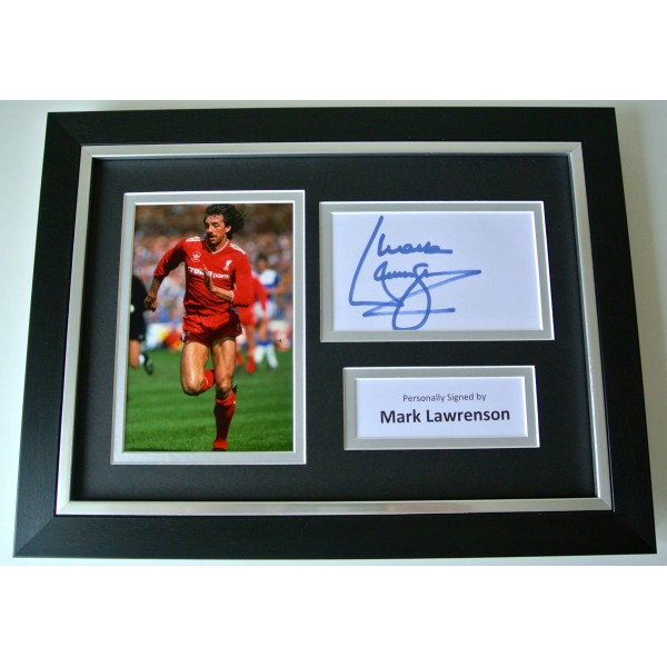 Mark Lawrenson SIGNED A4 FRAMED Photo Autograph Display Liverpool Football & COA