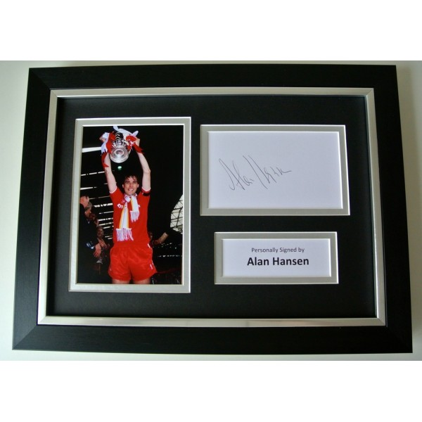Alan Hansen SIGNED A4 FRAMED Photo Autograph Display Liverpool Football & COA