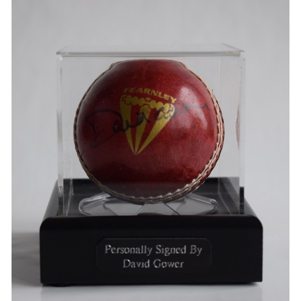 David Gower Signed Autograph Cricket Ball Display Case Sport England    AFTAL & COA Memorabilia PERFECT GIFT