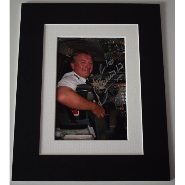 Mike Bannister Signed Autograph 10x8 photo display Concorde Pilot  AFTAL  COA Memorabilia PERFECT GIFT