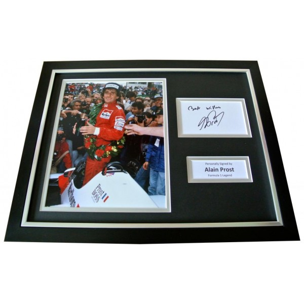 ALAIN PROST Signed Framed Photo Display AUTOGRAPH Formula 1 Motor Sport F1 & COA          PERFECT GIFT