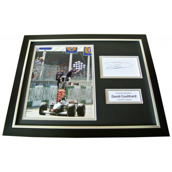 DAVID COULTHARD Signed Framed Photo Display AUTOGRAPH Formula 1 Motor Sport COA   PERFECT GIFT