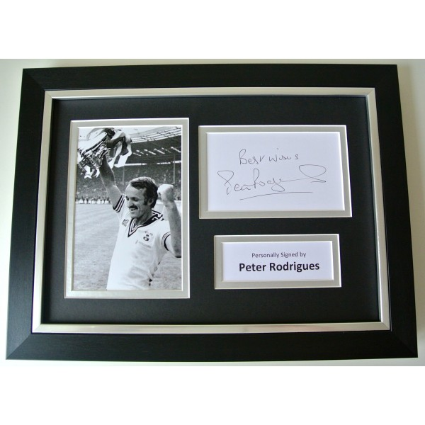 Peter Rodrigues SIGNED A4 FRAMED Photo Mount Autograph Display Southampton & COA