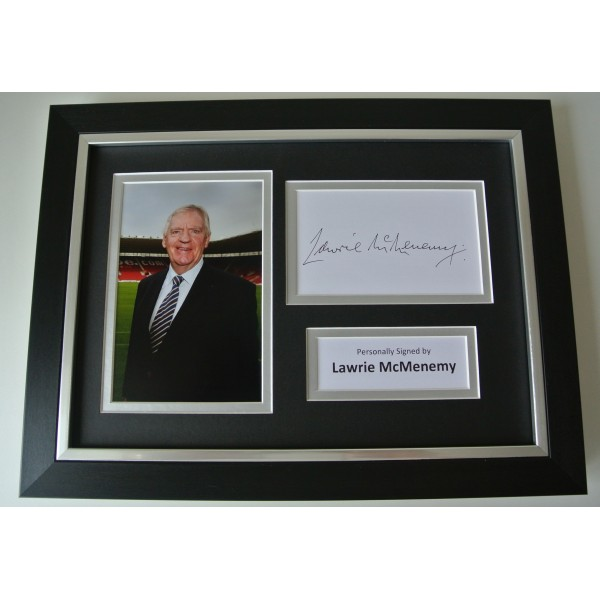 Lawrie McMenemy SIGNED A4 FRAMED Photo Mount Autograph Display Southampton & COA