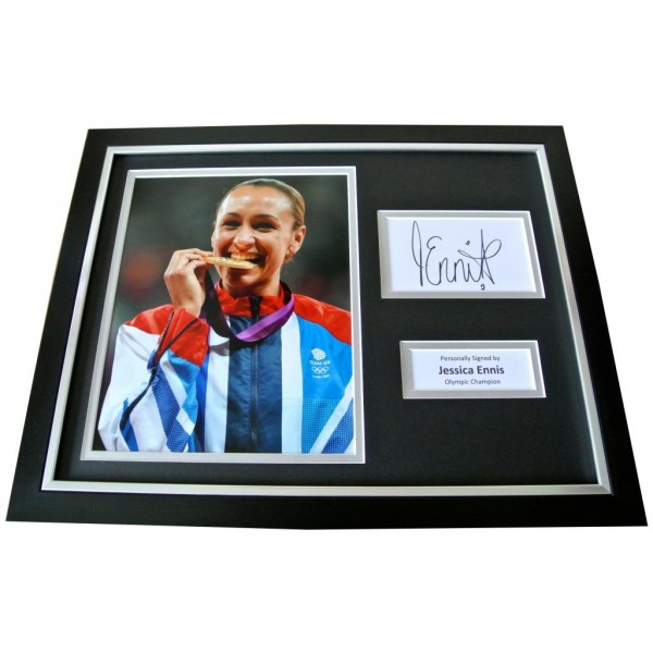 JESSICA ENNIS Signed Framed Photo Display AUTOGRAPH Olympics Heptathlon & COA   PERFECT GIFT
