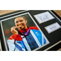 JESSICA ENNIS Signed Framed Photo Display AUTOGRAPH Olympics Heptathlon & COA   PERFECT GIFT