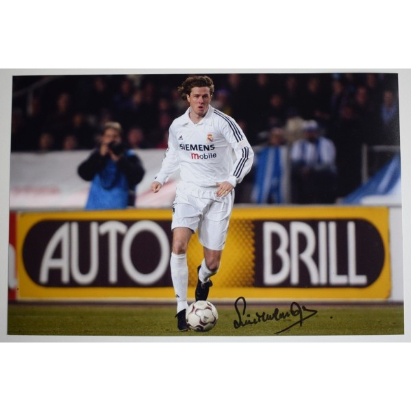 Steve McManaman SIGNED 12x8 Photo Autograph Real Madrid Football  AFTAL  COA Memorabilia PERFECT GIFT