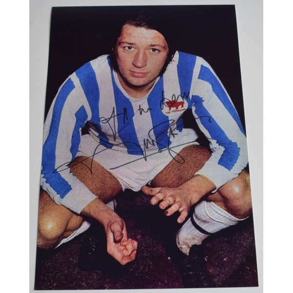 Frank Worthington SIGNED 12x8 Photo Autograph Huddersfield Town Football  AFTAL  COA Memorabilia PERFECT GIFT