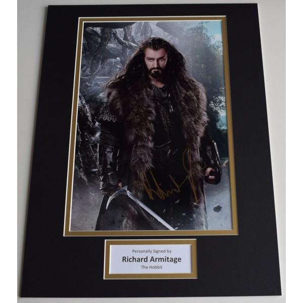 Richard Armitage SIGNED autograph 16x12 photo display Hobbit Film  AFTAL  COA Memorabilia PERFECT GIFT