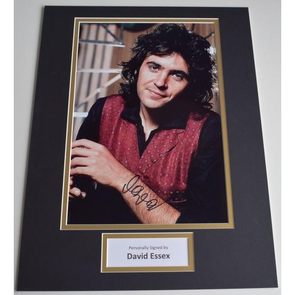 David Essex SIGNED autograph 16x12 photo display Music   AFTAL  COA Memorabilia PERFECT GIFT