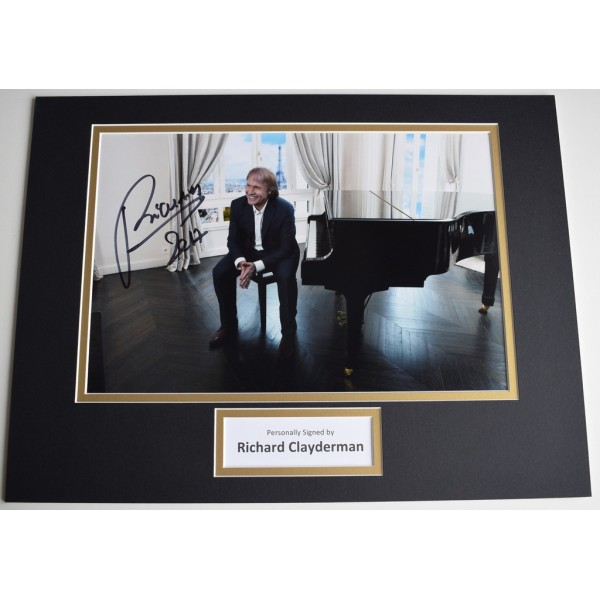 Richard Clayderman SIGNED autograph 16x12 photo display Piano Music   AFTAL  COA Memorabilia PERFECT GIFT