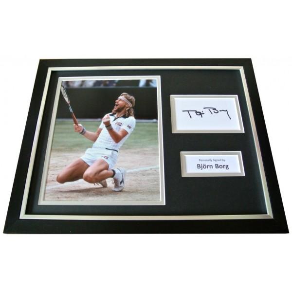 BJORN BORG Signed FRAMED Photo Display genuine AUTOGRAPH Tennis Memorabilia COA  PERFECT GIFT