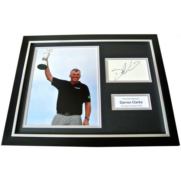 DARREN CLARKE Signed FRAMED Photo Display genuine AUTOGRAPH Golf Open 2011 & COA     PERFECT GIFT