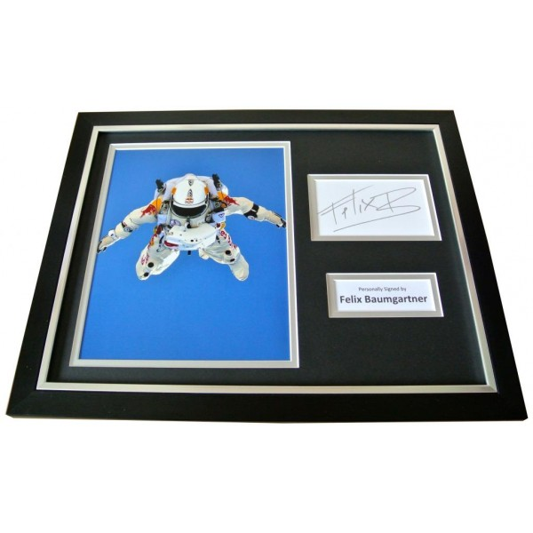FELIX BAUMGARTNER Signed FRAMED Photo Display genuine AUTOGRAPH SPACE JUMP & COA   PERFECT GIFT