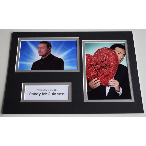 Paddy McGuinness Signed Autograph A4 photo display Take Me Out AFTAL & COA Memorabilia PERFECT GIFT