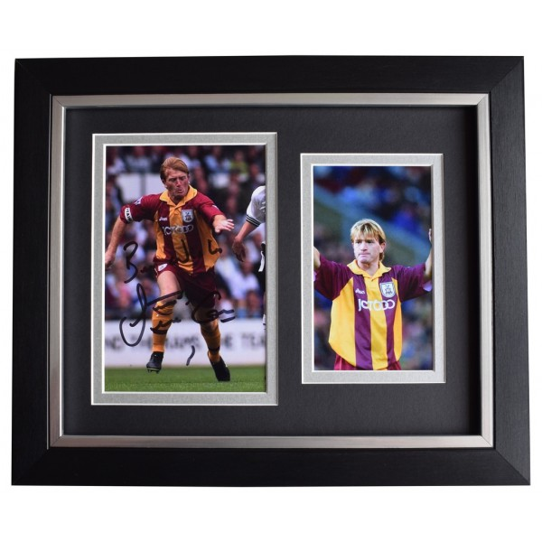 Stuart McCall SIGNED 10x8 FRAMED Photo Autograph Display Bradford Football  AFTAL  COA Memorabilia PERFECT GIFT