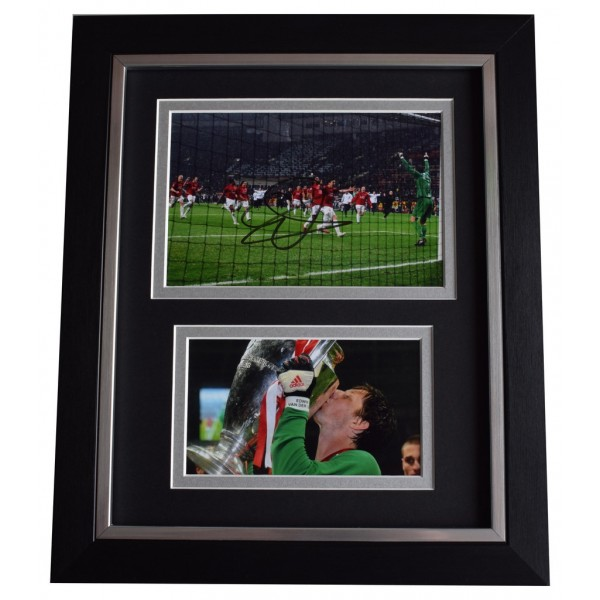 1ed0e7a37dd Edwin van der Sar SIGNED 10x8 FRAMED Photo Autograph Display Manchester  United AFTAL COA Memorabilia PERFECT