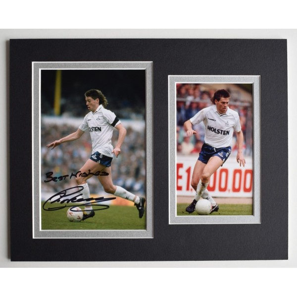 Chris Waddle Signed Autograph 10x8 photo display Tottenham Hotspur Football AFTAL  COA Memorabilia PERFECT GIFT