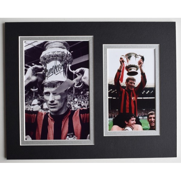 Tony Book Signed Autograph 10x8 photo display Manchester City Football  AFTAL  COA Memorabilia PERFECT GIFT