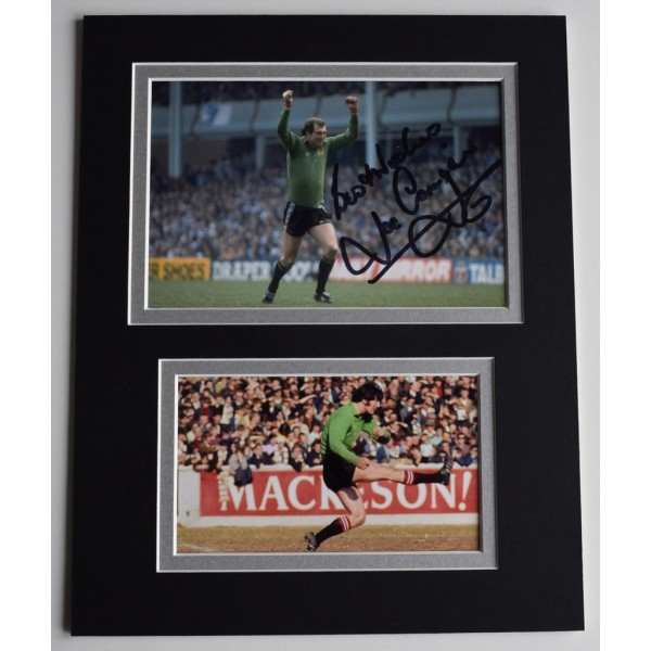 Joe Corrigan Signed Autograph 10x8 photo display Manchester City Football  AFTAL  COA Memorabilia PERFECT GIFT