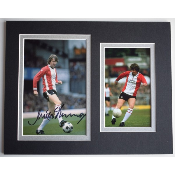 Mick Channon Signed Autograph 10x8 photo display Southampton Football  AFTAL  COA Memorabilia PERFECT GIFT