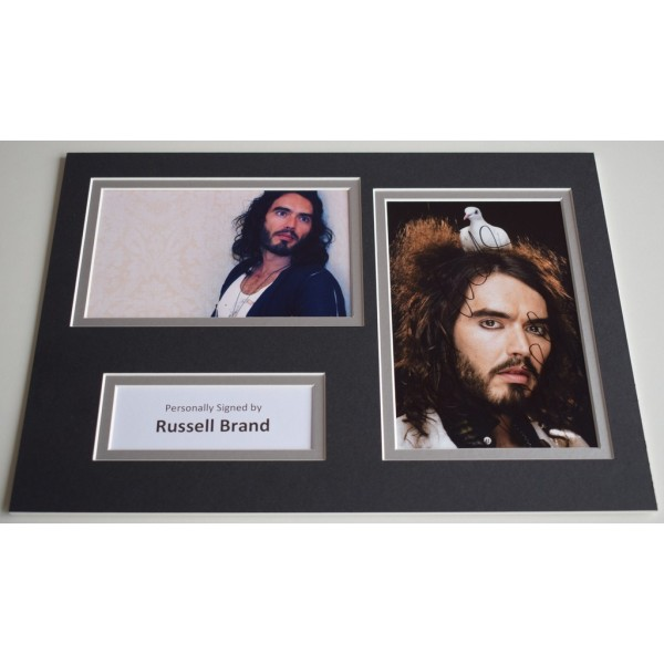 Russell Brand Signed Autograph A4 photo display Comedian TV Film AFTAL & COA Memorabilia PERFECT GIFT