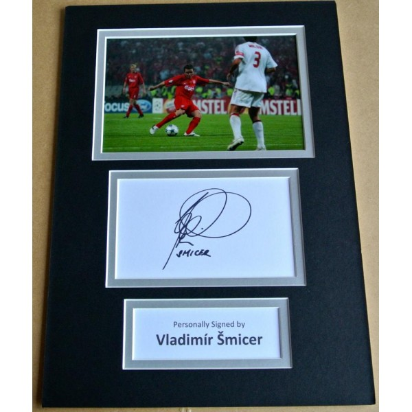VLADIMIR SMICER SIGNED autograph A4 Photo Mount Display LIVERPOOL Football & COA AFTAL SPORT   Memorabilia    PERFECT GIFT