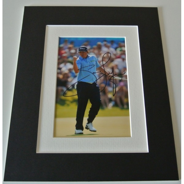 Jason Dufner Signed Autograph 10x8 photo mount display Golf memorabilia & COA   PERFECT GIFT